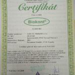 Certifikát Bio